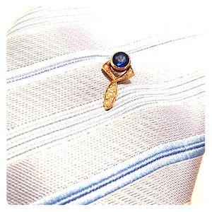 Victorian Sapphire Tie Pin